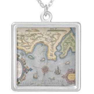 Carte commerciale de Néerlandais de la mer baltiqu Pendentif Carré