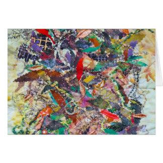 Carte : conception abstraite d'édredon