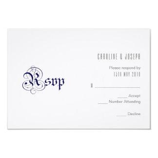 "Carte Conception de RSVP ""de BLEU ROYAL"""