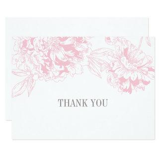 Carte Conception florale rose plate de pivoine des