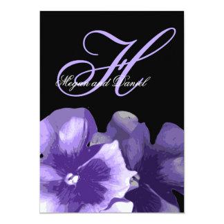 Carte Conception florale violette élégante sur le