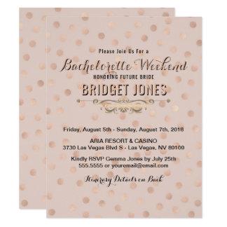 Carte Confettis roses d'or d'itinéraire de week-end de