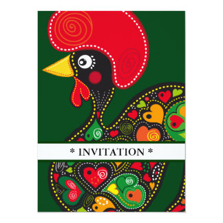 Carte Coq d'invitation de Barcelos nr02