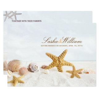Carte Coquillages de PixDezines/invitations de plage