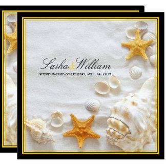Carte Coquillages de PixDezines/plage/jaune+cadres noirs