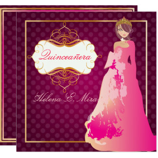 Carte Couleur de QUINCEANERA/QUINCE ANOS PRINCESS/DIY