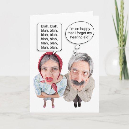 Carte Couples Droles D Anniversaire Heureux Vieux Zazzle Fr