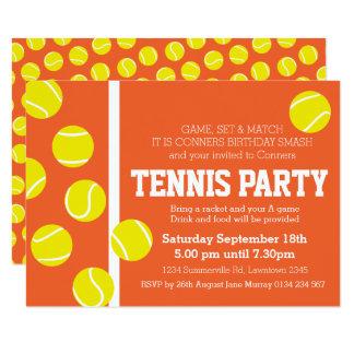 Carte Cour d'argile orange rouge d'invitation de fête