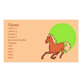 Carte courante de profil de cheval carte de visite standard