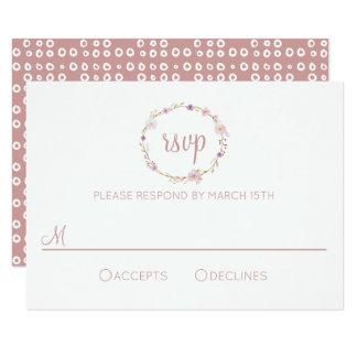 Carte Couronne florale de mariage - RSVP
