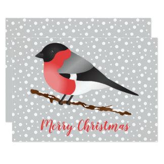 Carte Coutume eurasienne de Joyeux Noël d'oiseau de