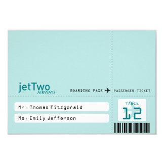 Carte couverte d'allocation des places de billet carton d'invitation 8,89 cm x 12,70 cm