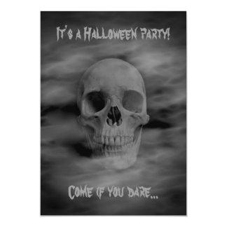 Carte Crâne fantomatique de partie d'horreur de