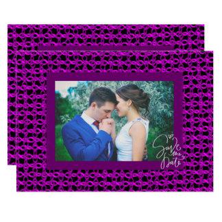 Carte Cravate magenta de corde de Knit les économies de