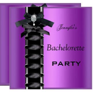 Carte Cravate pourpre de corset de diamant de noir de