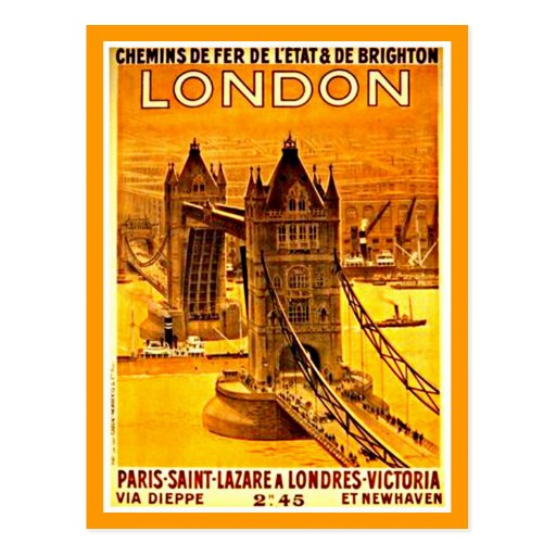 Carte-Cru Voyage-Londres 2 Cartes Postales