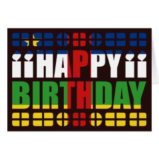 Carte d anniversaire de drapeau de Centrafrique