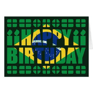 Carte d anniversaire de drapeau du Brésil