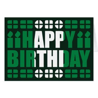 Carte d anniversaire de drapeau du Nigéria