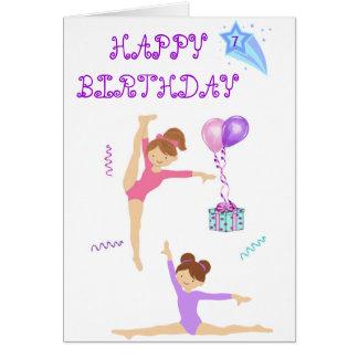 Carte d anniversaire de gymnastique personnalisée