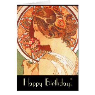 Carte d anniversaire de Madame de Nouveau d art