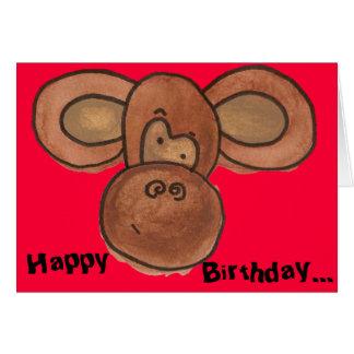 Carte d anniversaire de singe