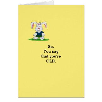 Carte d anniversaire humoristique