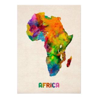 Carte d aquarelle de l Afrique Invitations