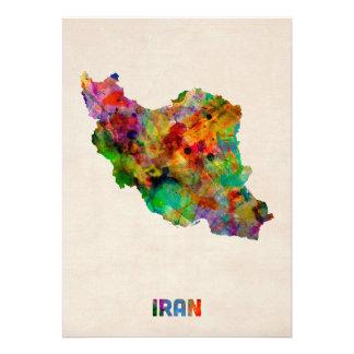 Carte d aquarelle de l Iran Cartons D'invitation Personnalisés