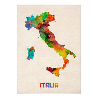 Carte d aquarelle de l Italie Italie Invitations
