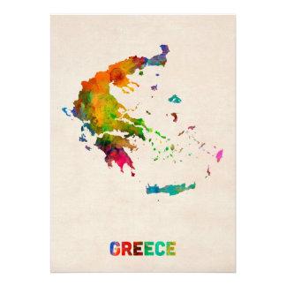 Carte d aquarelle de la Grèce Invitations Personnalisées