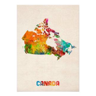 Carte d aquarelle du Canada Faire-parts