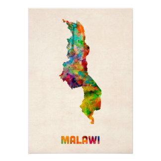 Carte d aquarelle du Malawi Faire-part Personnalisé