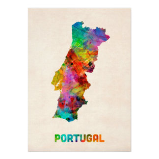 Carte d aquarelle du Portugal Invitations Personnalisées