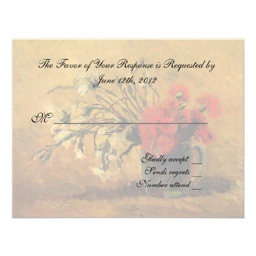 carte d 39 acceptation de mariage fleurs de van gogh carton d 39 invitation 10 79 cm x 13 97 cm zazzle. Black Bedroom Furniture Sets. Home Design Ideas