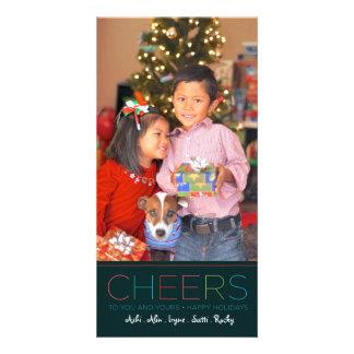 Carte d'ACCLAMATIONS de vacances et de Noël Cartes De Vœux Avec Photo
