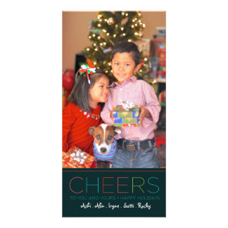 Carte d'ACCLAMATIONS de vacances et de Noël Cartes Avec Photo
