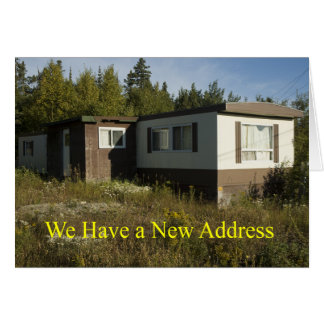 Carte d'adresse de caravane résidentielle de