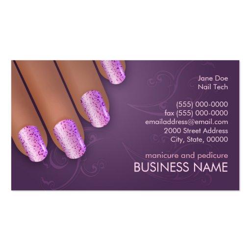 Carte d'affaires et de rendez-vous de manucure dan cartes de visite personnelles