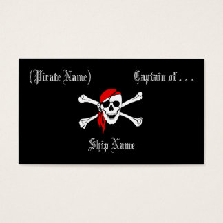 Carte d'affaires/profil de pirate