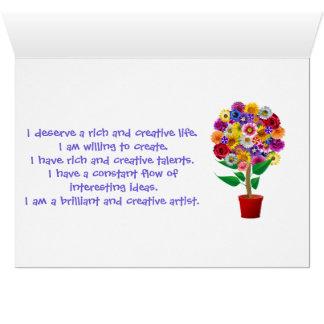 Carte d'affirmation de créativité - double