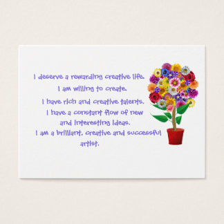 Carte d'affirmation de créativité - incantation