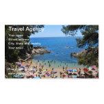 carte d'agence de voyages cartes de visite professionnelles