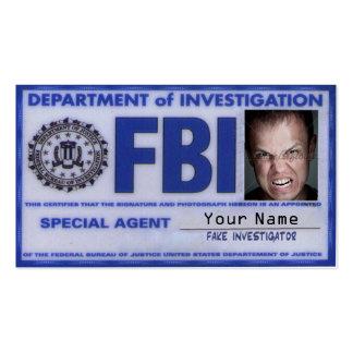 Carte d'agent du FBI Cartes De Visite Personnelles