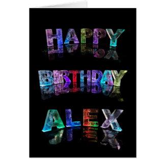 Carte d'Alex de joyeux anniversaire