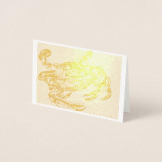 """Carte d'aluminium de crabe de mer, mini (3,5"""" x5"""")"""