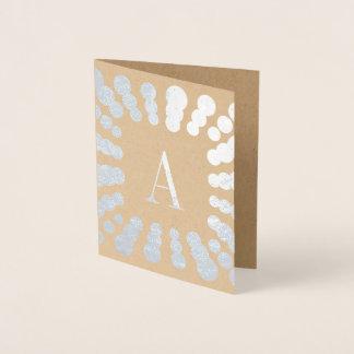 Carte d'aluminium de monogramme et de pois