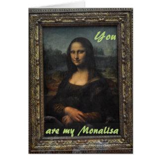Carte d'amour d'anniversaire de Monalisa Mona Lisa