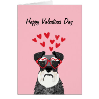 Carte d'amour de chien de Valentines de Schnauzer
