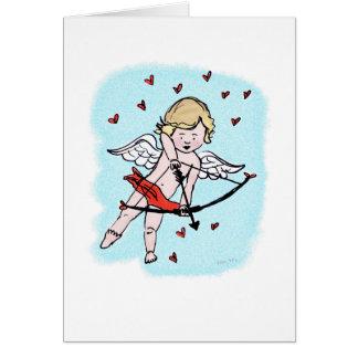 Carte d'amour de cupidon
